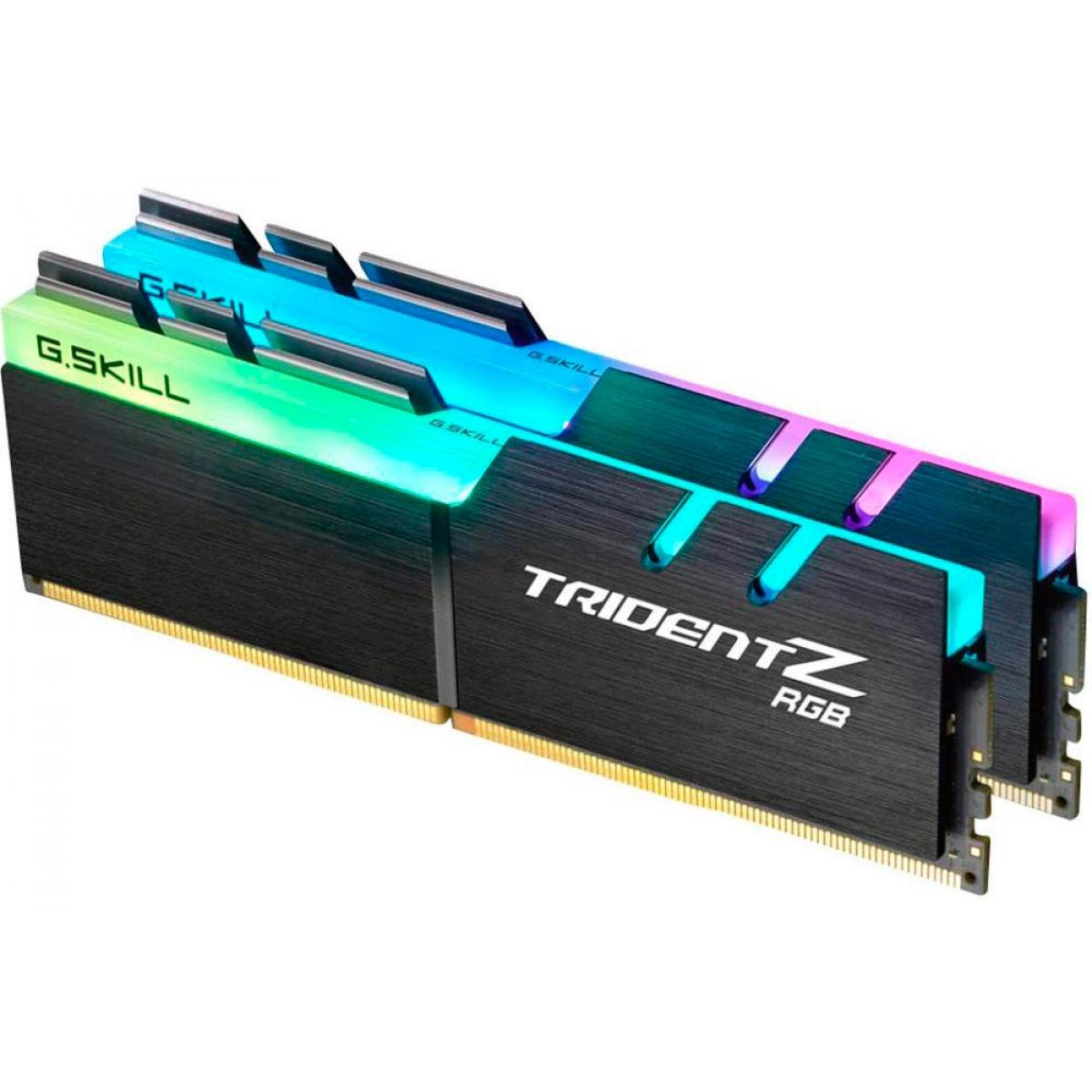 Memória DDR4 G.Skill Trident Z, RGB, 16GB (2x8GB) 3000MHz, F4-3000C15D-16GTZR