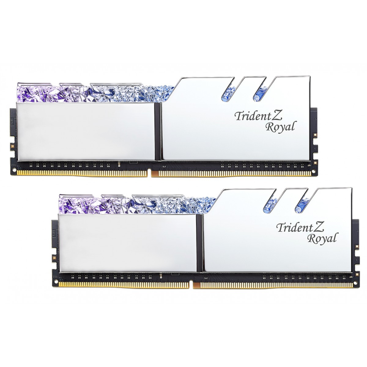 Memória DDR4 G.Skill Trident Z Royal, 16GB (2X8GB) 3200MHz, F4-3200C16D-16GTRS
