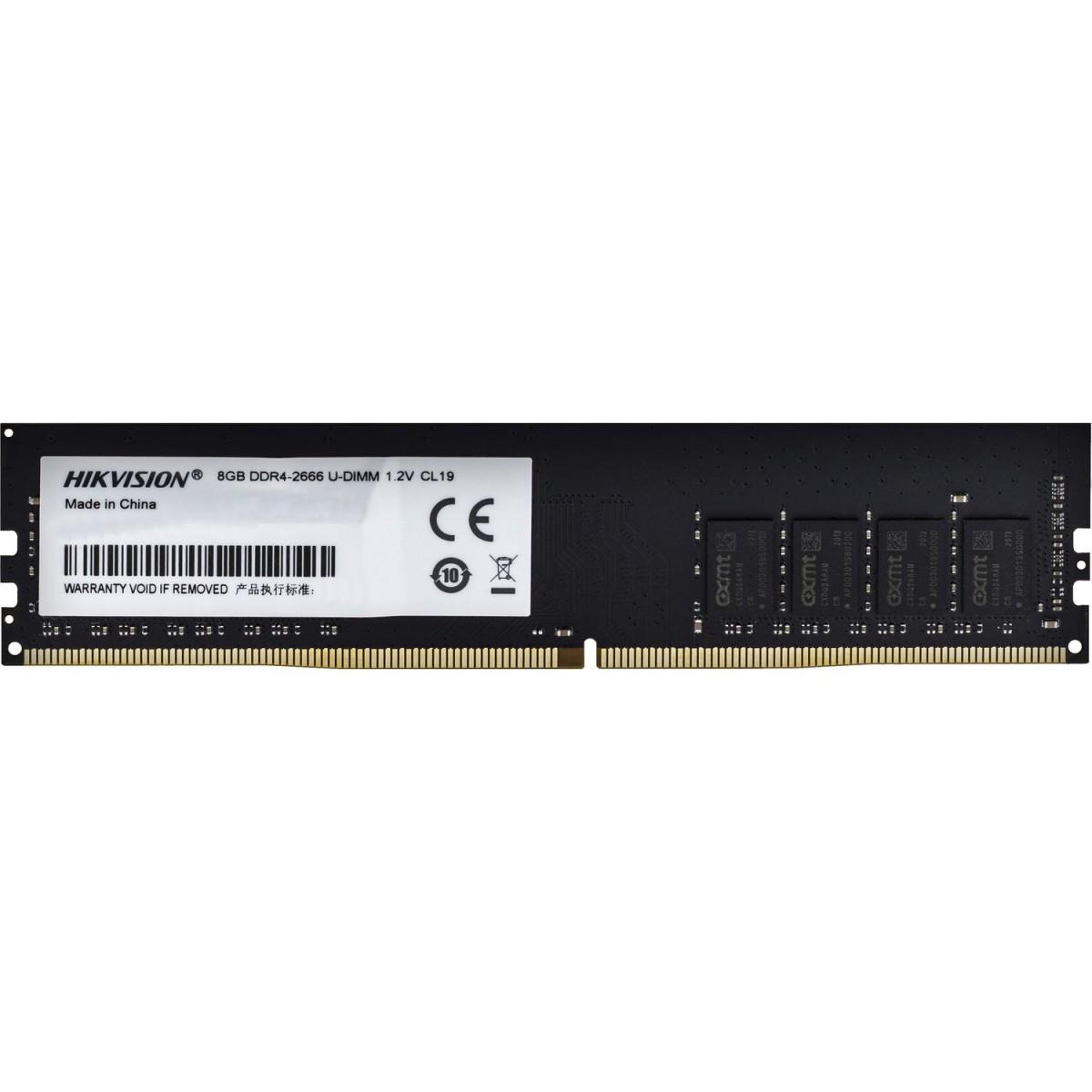 Memória DDR4 Hikvision, 8GB 2666MHz, HKED4081CBA1D0ZA1/8G