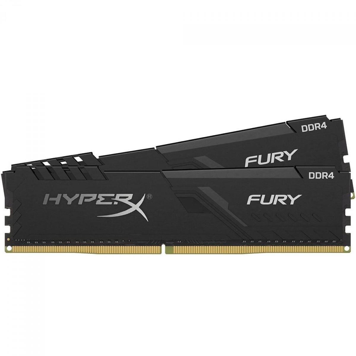 Memória DDR4 HyperX Fury, 16GB (2x8GB), 2400MHz, Black, HX424C15FB3K2/16
