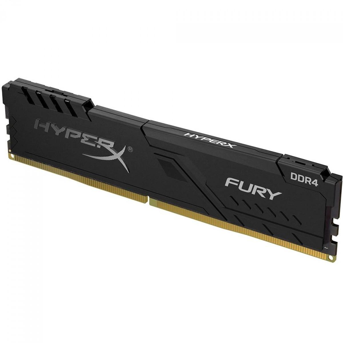 Memória DDR4 HyperX Fury, 8GB, 2400MHz, Black, HX424C15FB3/8