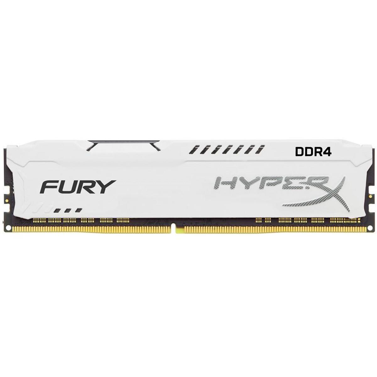 Memória DDR4 Kingston HyperX Fury, 16GB 3200MHz, White, HX432C18FW/16