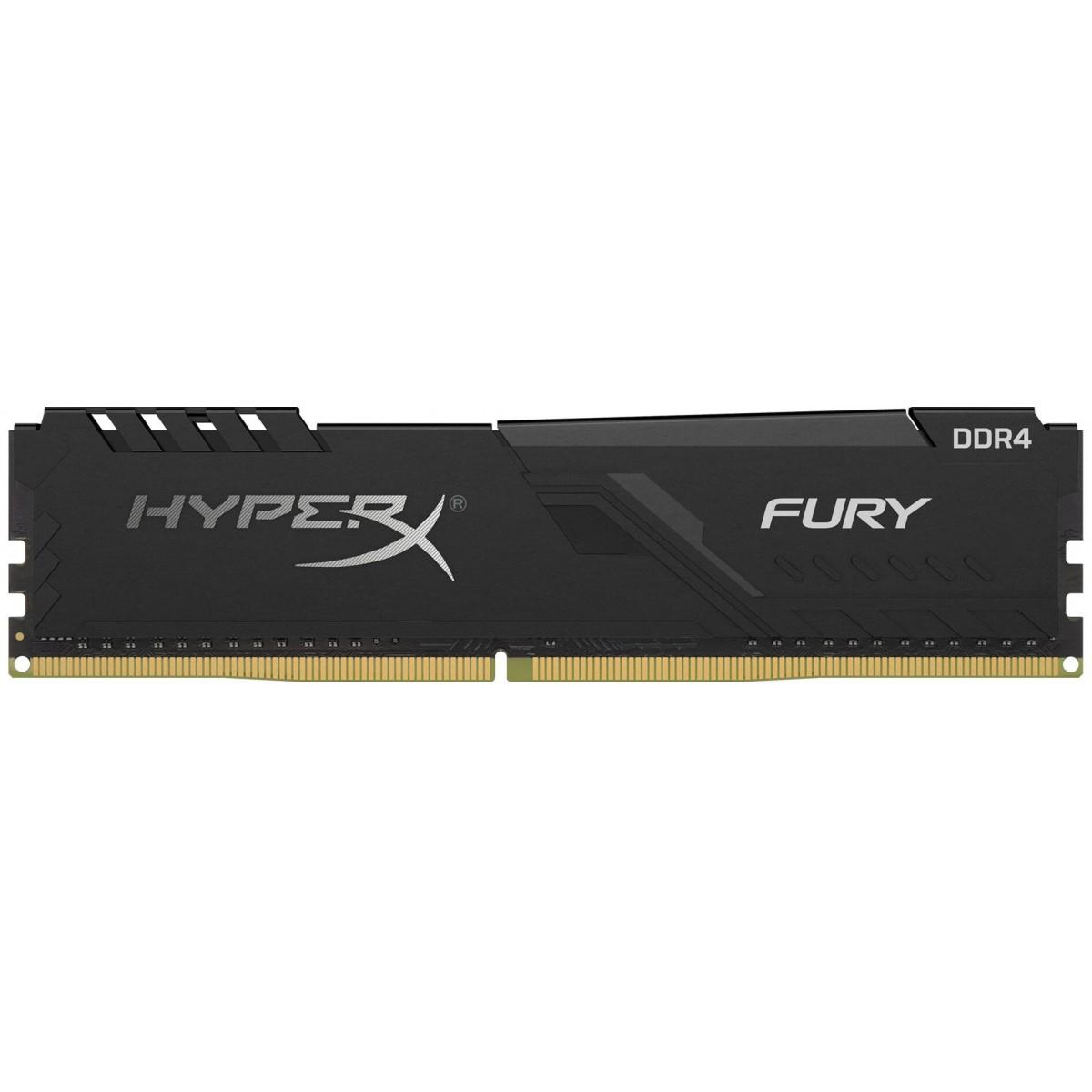 Memória DDR4 Kingston HyperX Fury, 8GB 2666MHz, Black, HX426C16FB3/8
