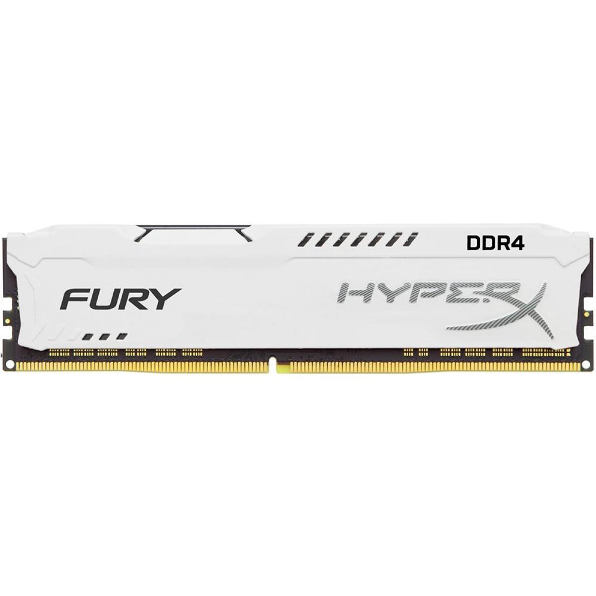 Memória DDR4 Kingston HyperX Fury, 8GB 3466MHz, White, HX434C19FW2/8