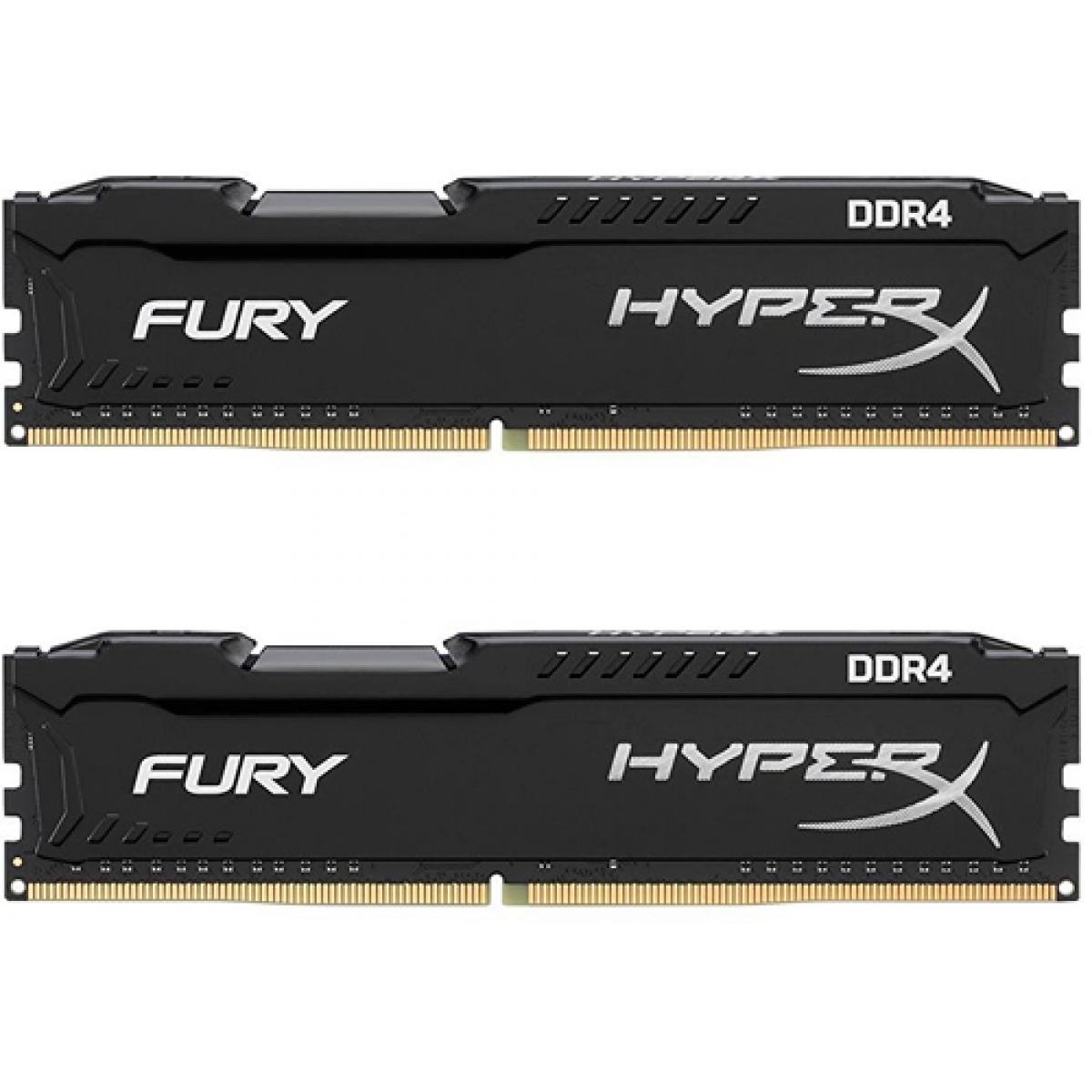 Memória DDR4 Kingston Hyperx Fury, 32GB (2X16GB) 2666MHz, HX426C16FBK2/32