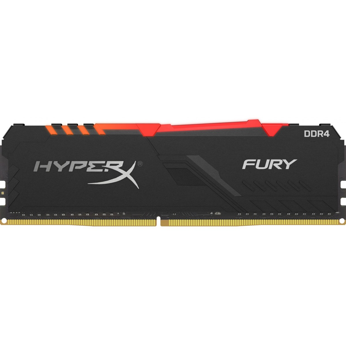Memória DDR4 Kingston HyperX Fury RGB, 8GB 2666MHz, Black, HX426C16FB3A/8