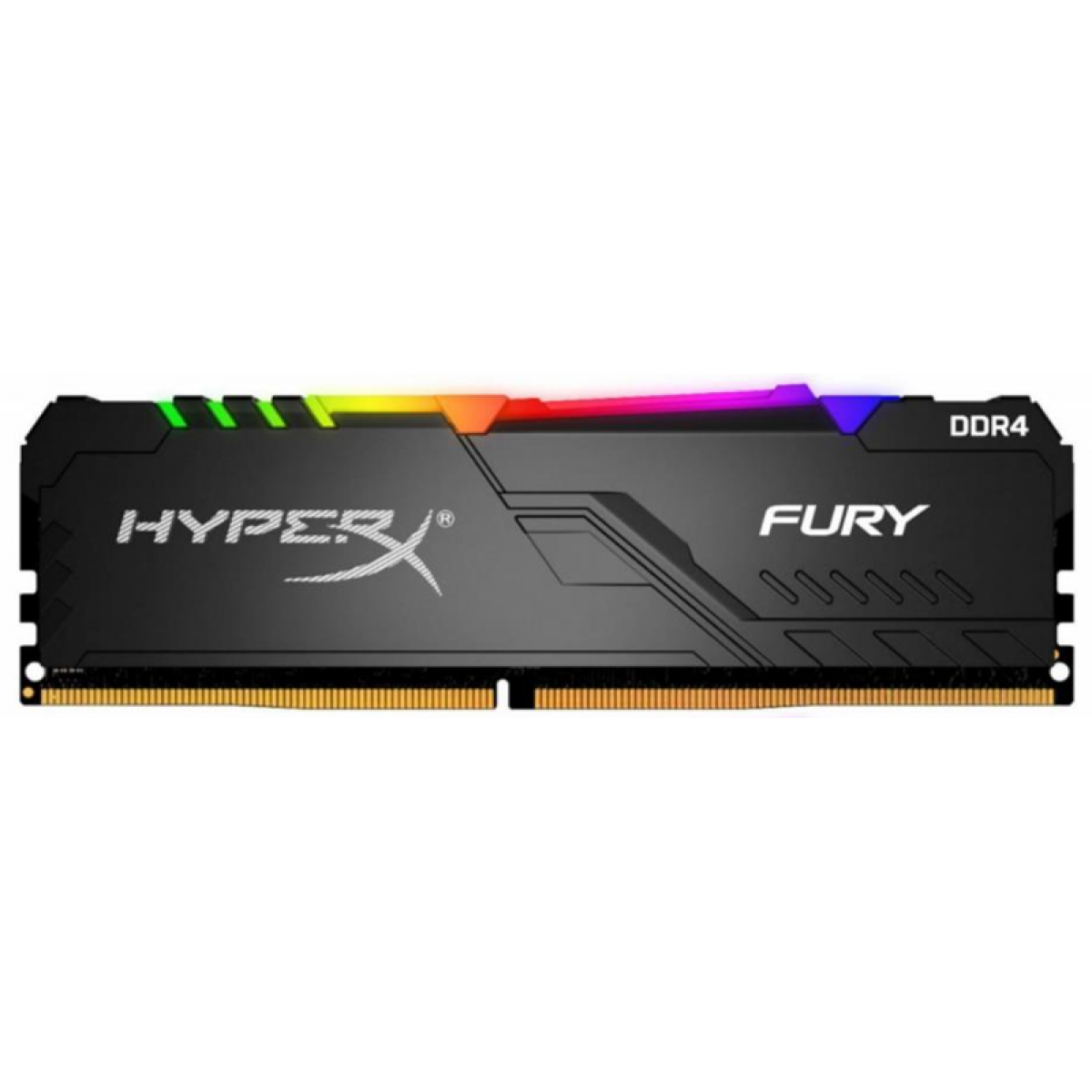 Memória DDR4 Kingston HyperX Fury RGB, 8GB 3466MHz, Black, HX434C16FB3A/8