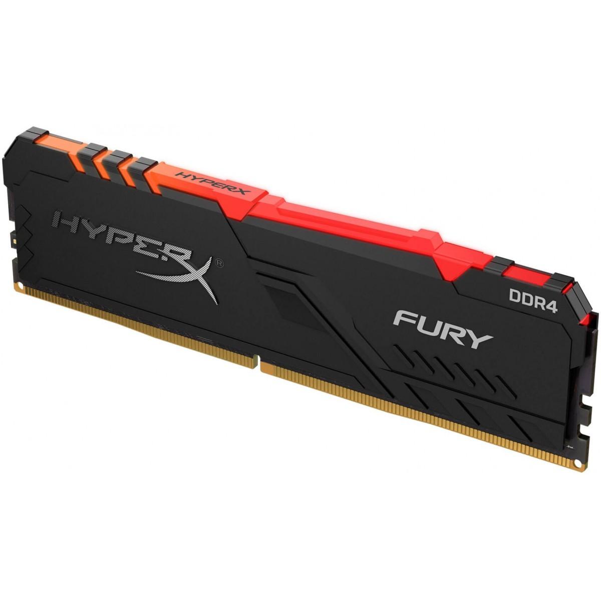 Memória DDR4 Kingston HyperX Fury RGB, 8GB 3600MHz, Black, HX436C17FB3A/8