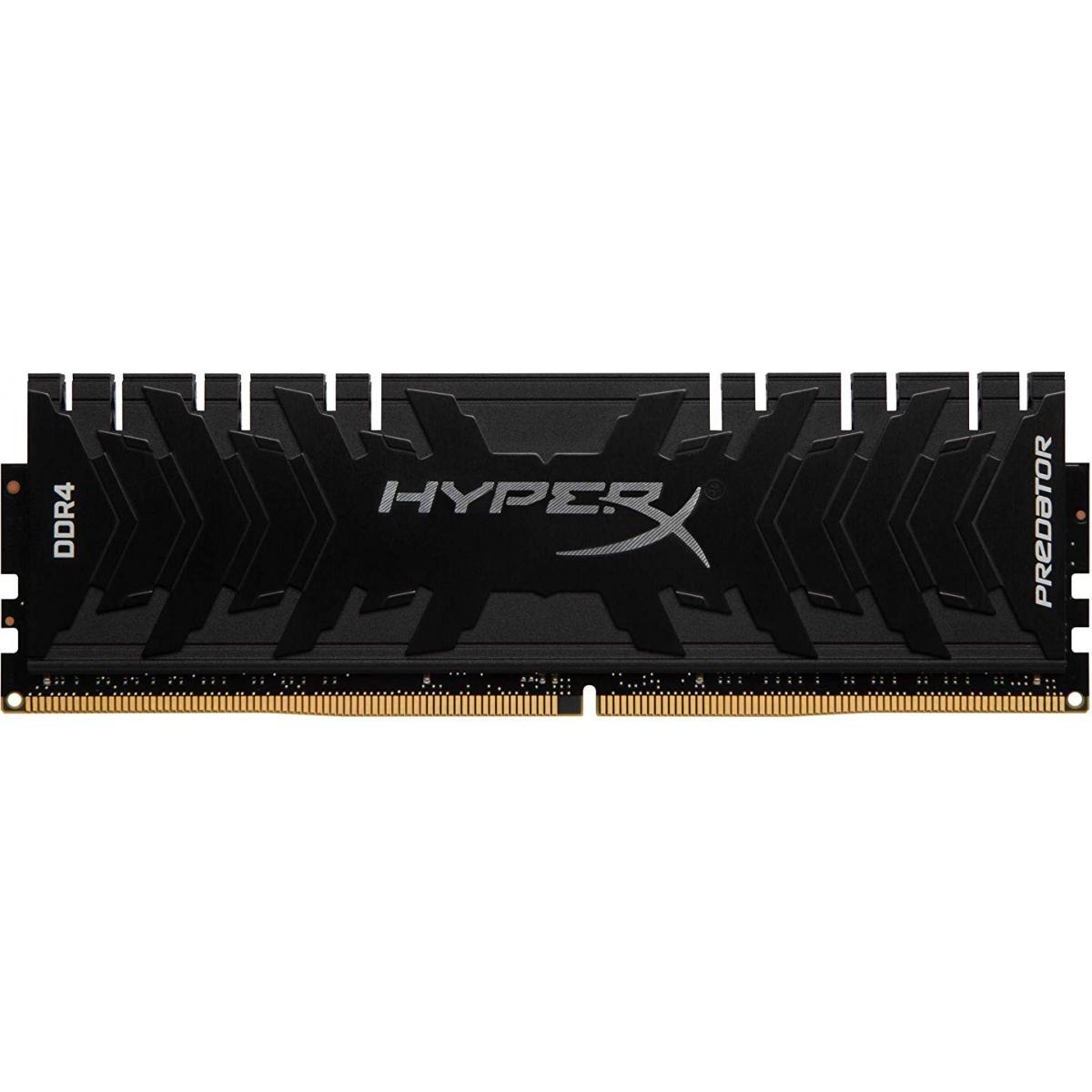 Memória DDR4 Kingston HyperX Predator, 16GB 3200MHZ, Black, HX432C16PB3/16