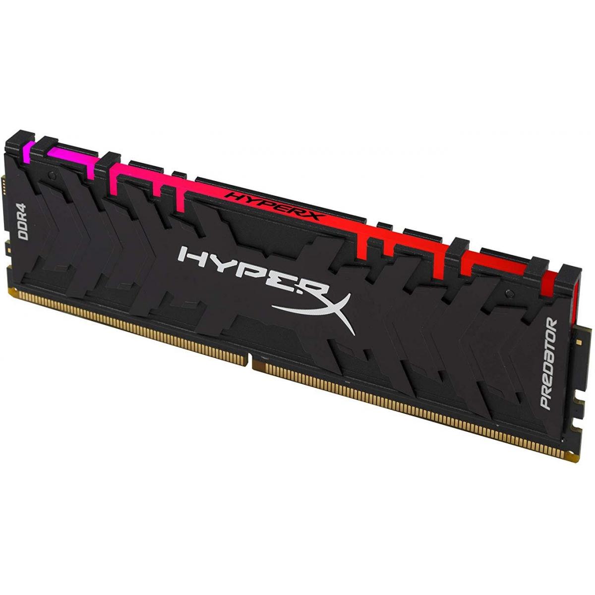 Memória DDR4 Kingston HyperX Predator RGB, 16GB 3200MHz, HX432C16PB3A/16