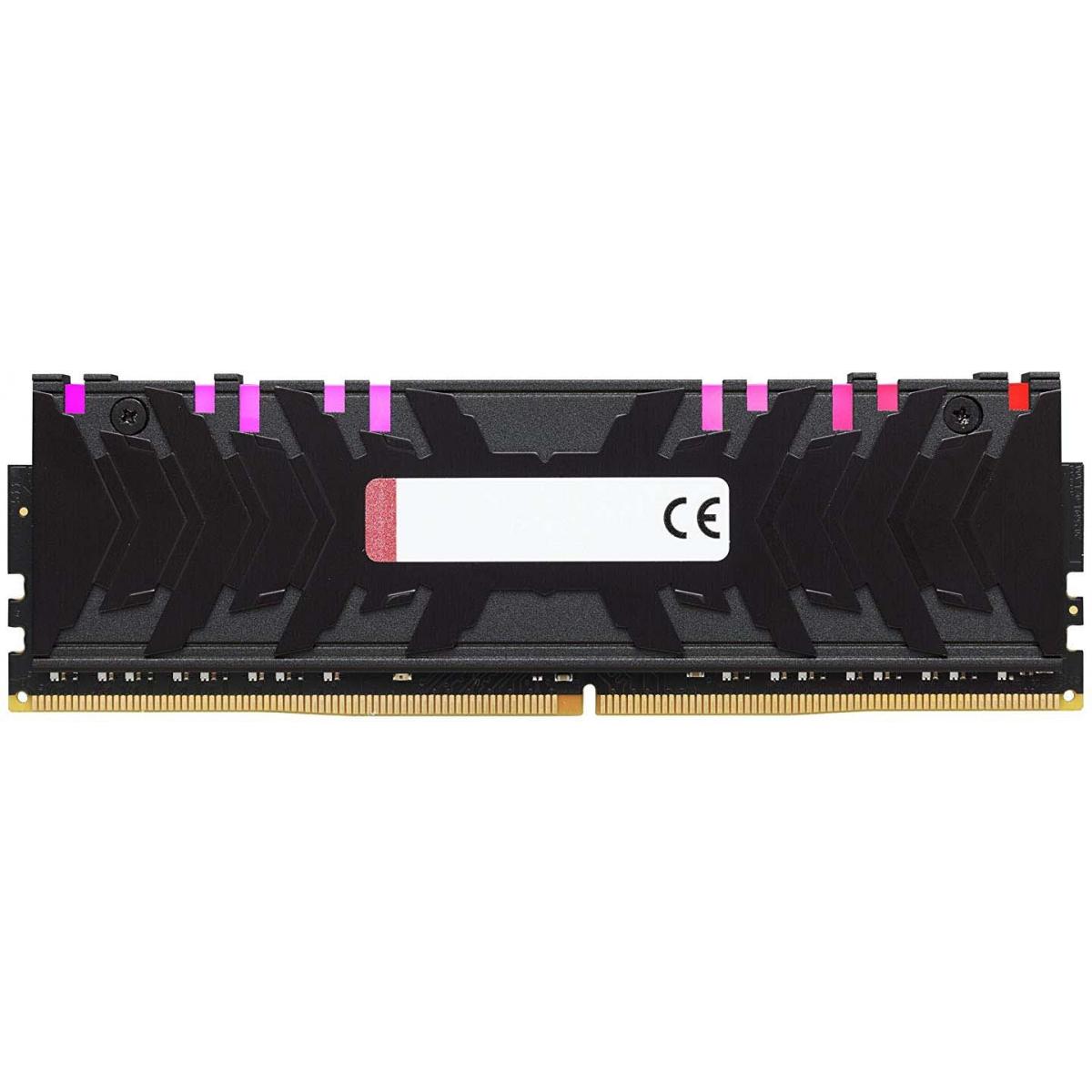 Memória DDR4 Kingston HyperX Predator RGB, 8GB 3000MHz, HX430C15PB3A/8