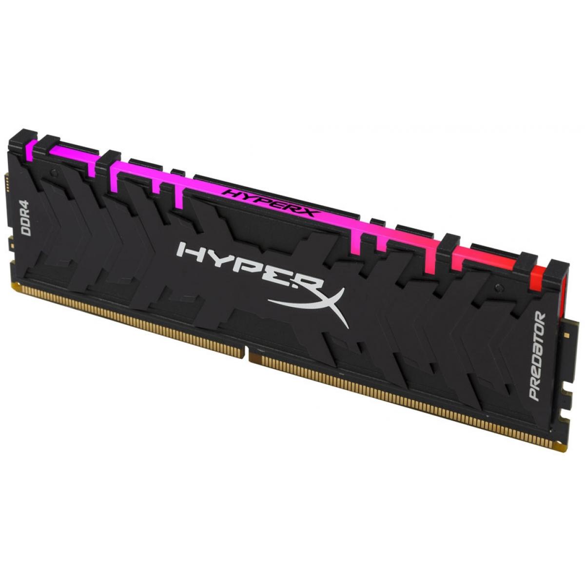 Memória DDR4 Kingston HyperX Predator RGB, 8GB 3200MHz, HX432C16PB3A/8