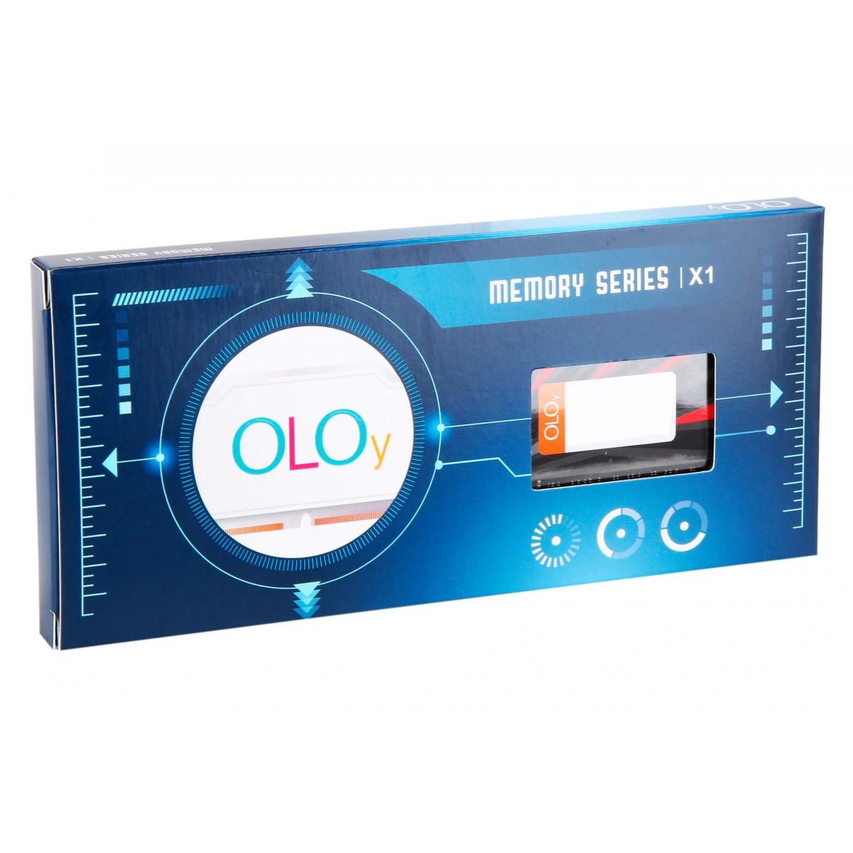 Memória DDR4 OLOy Hummingbird, 16GB, 2666MHZ, Red/Black, MD4U162619BBSA
