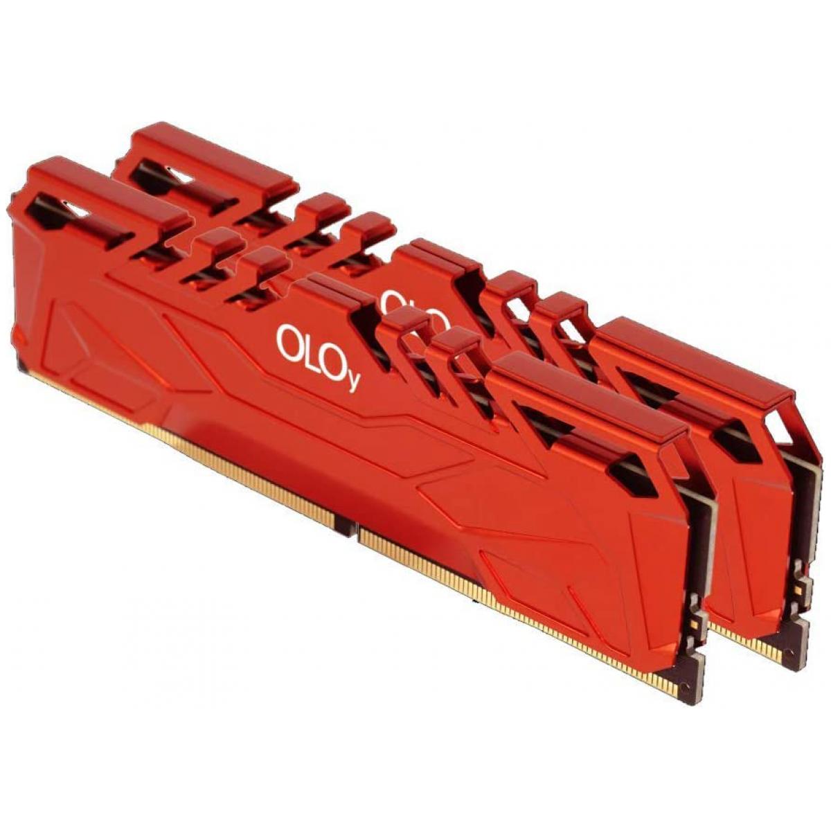 Memória DDR4 OLOy Owl Red, 16GB (2x8GB), 3000MHz, Red, MD4U083016BHDA - IMP