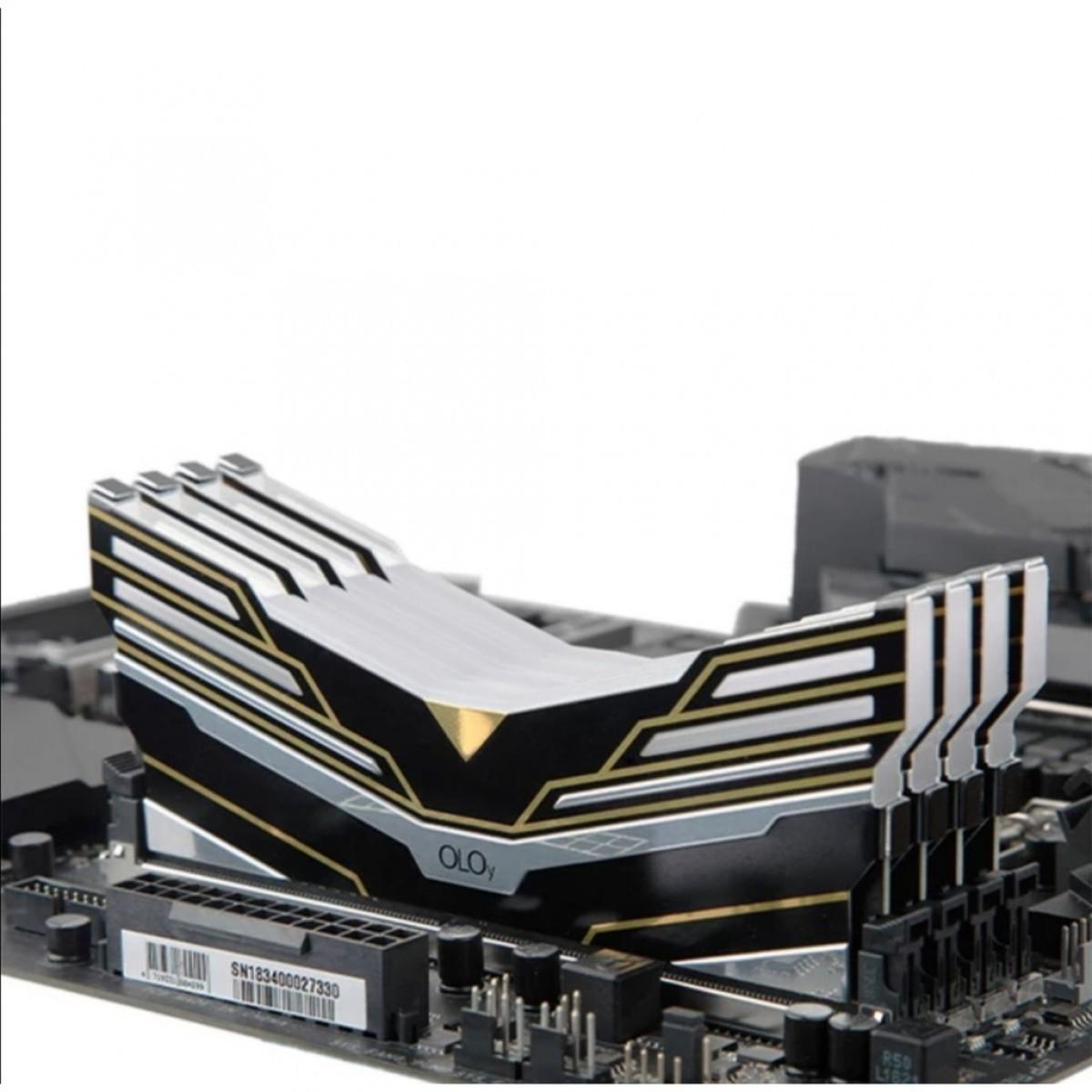 Memória DDR4 OLOy WarHawk Black, 8GB, 3000MHZ, RGB, MD4U083016BESA - IMP