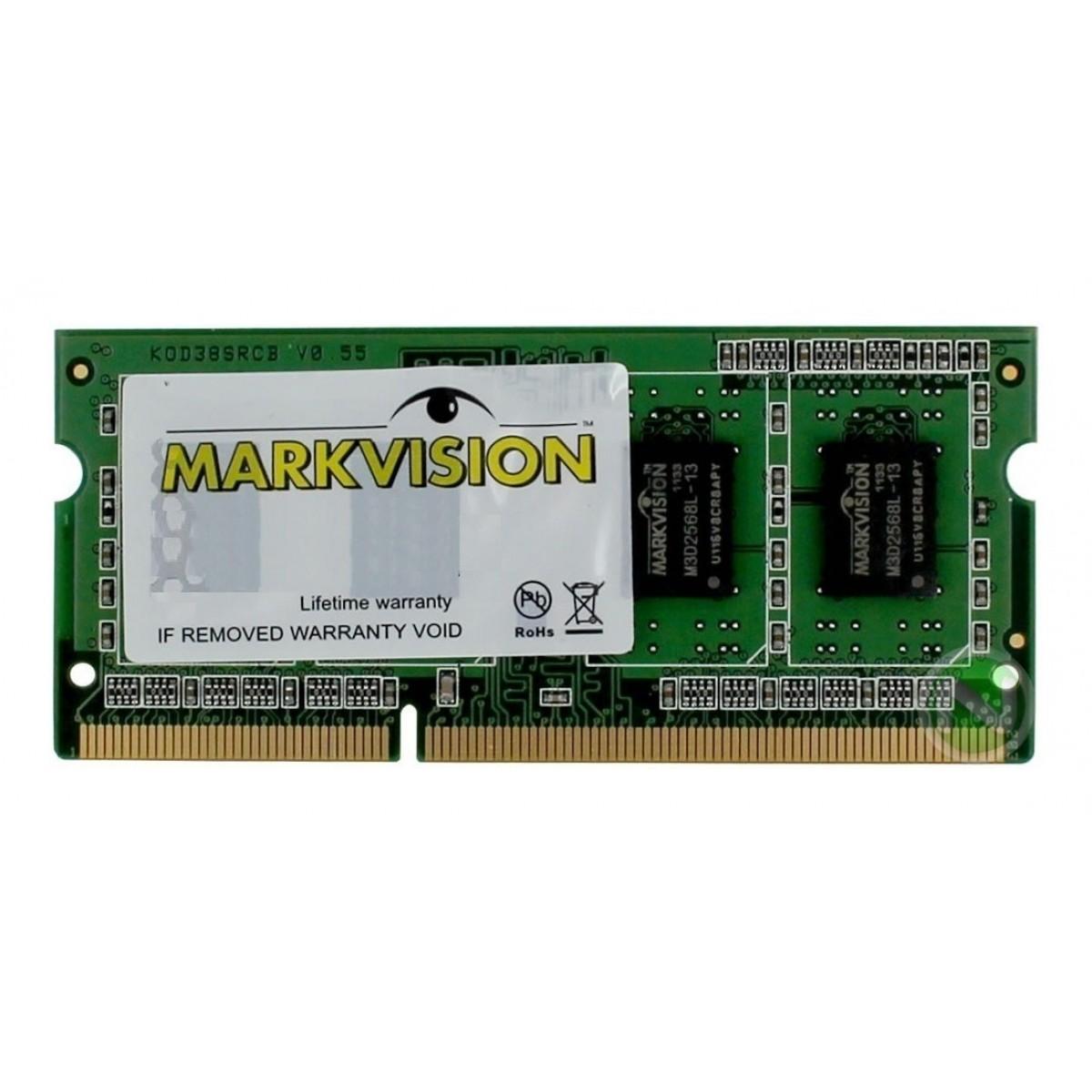 Memória DDR4 para Notebook Markvision, 8GB 2400Mhz, MVD48192MSD-24SV