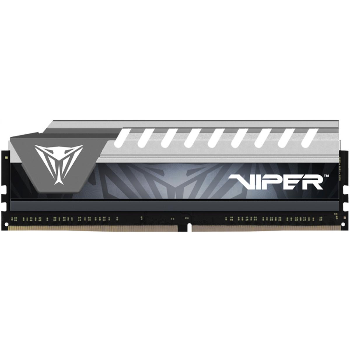Memória DDR4 Patriot Viper Elite, 8GB 2666MHz, Silver, PVE48G266C6GY