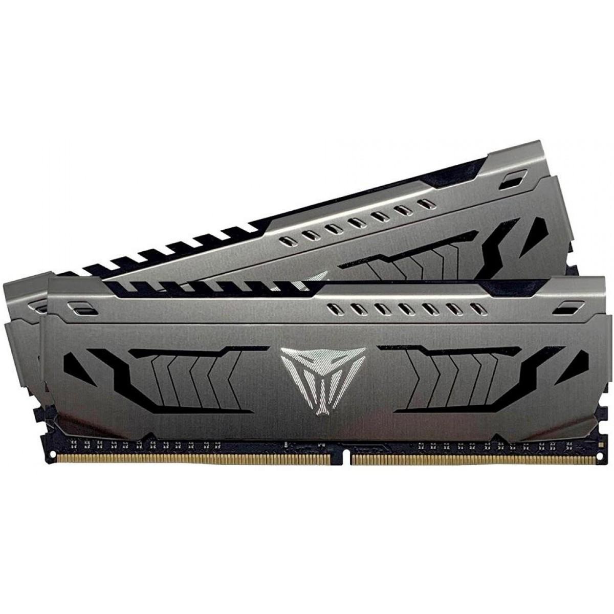 Memória DDR4 Patriot Viper Steel, 16GB (2x8GB) 3000MHz, Black, PVS416G300C6K