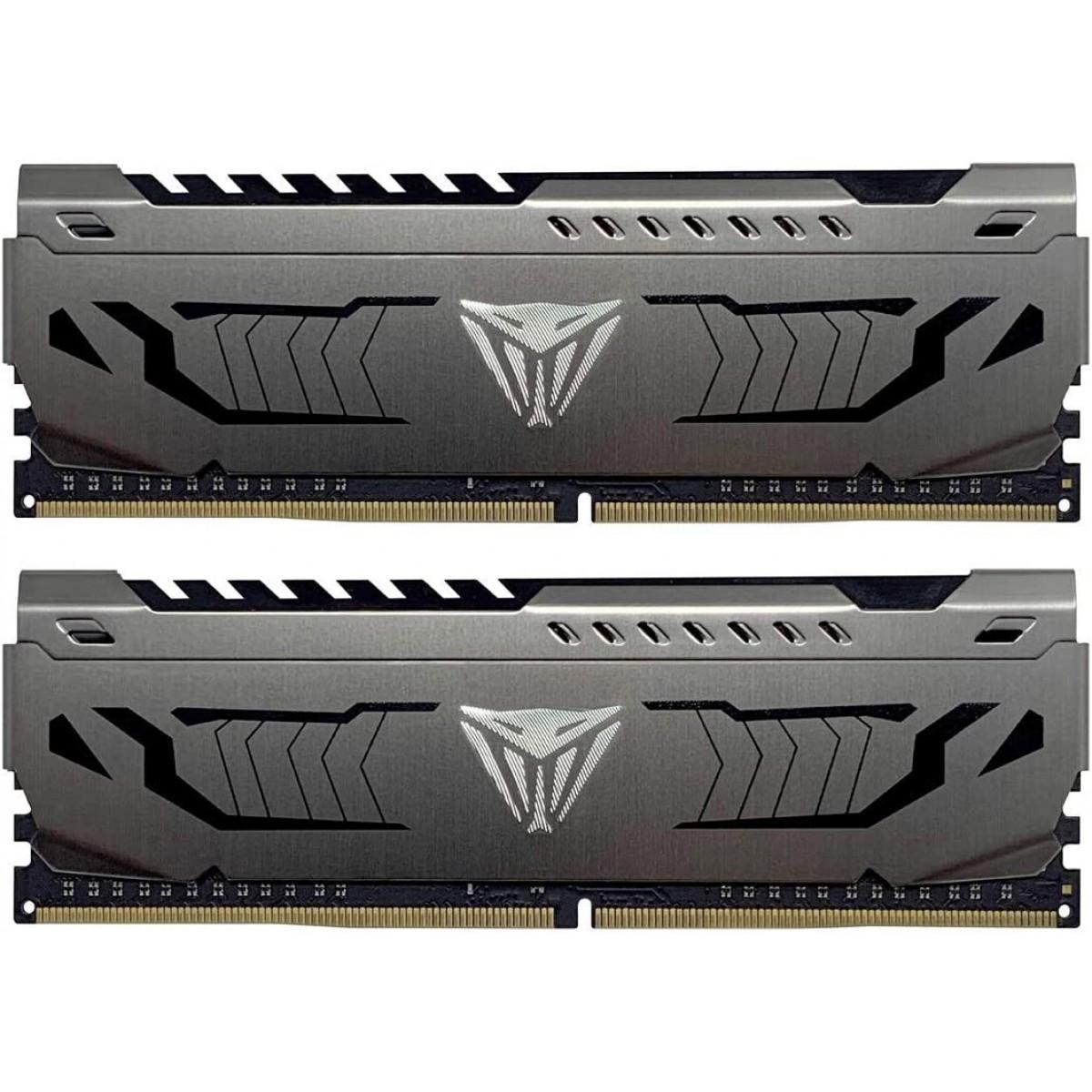 Memória DDR4 Patriot Viper Steel, 16GB (2x8GB) 3600MHz, Black, PVS416G360C7K