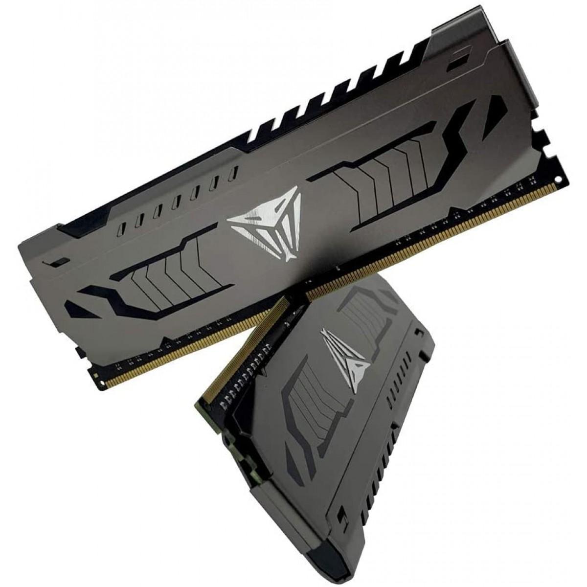 Memória DDR4 Patriot Viper Steel, 16GB (2x8GB) 3600MHz, Black, PVS416G360C8K