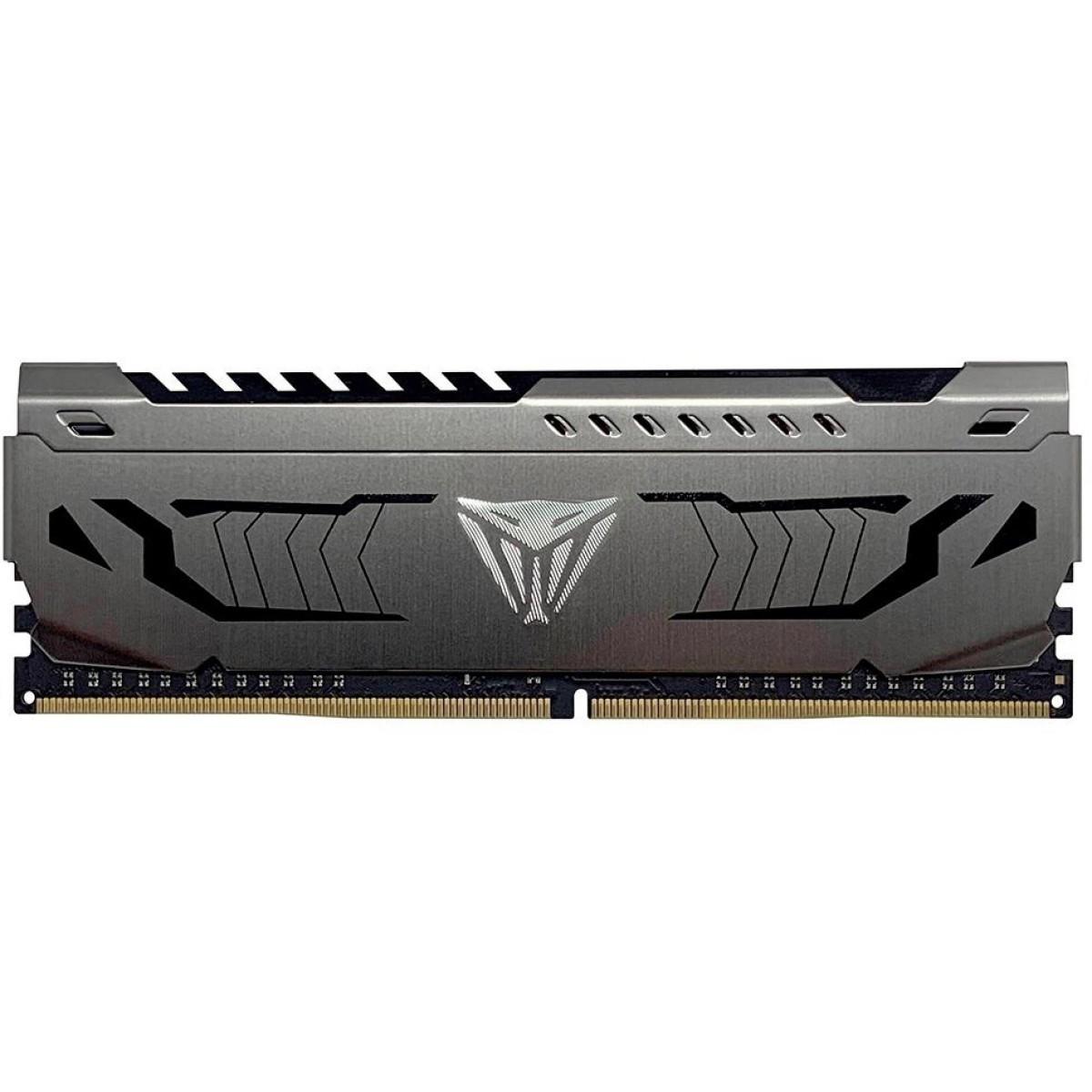 Memória DDR4 Patriot Viper Steel, 16GB 3600MHz, Gray, PVS416G360C8