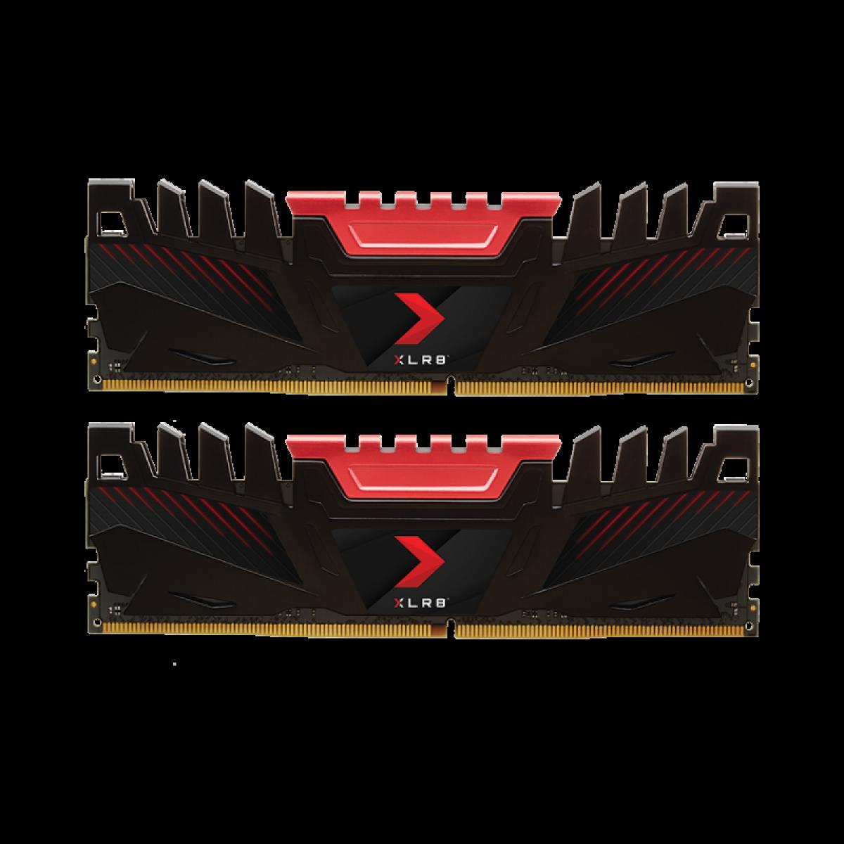 Memória DDR4 PNY XLR8 Gaming, 16GB (2x8GB), 2666MHZ, MD16GK2D4266616XR