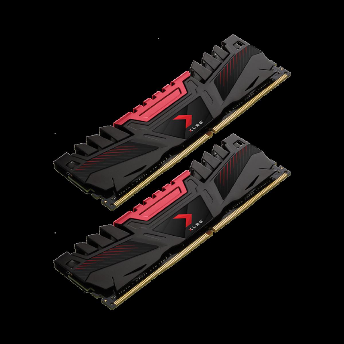 Memória DDR4 PNY XLR8 Gaming, 16GB (2x8GB), 3200MHZ, MD16GK2D4320016AXR