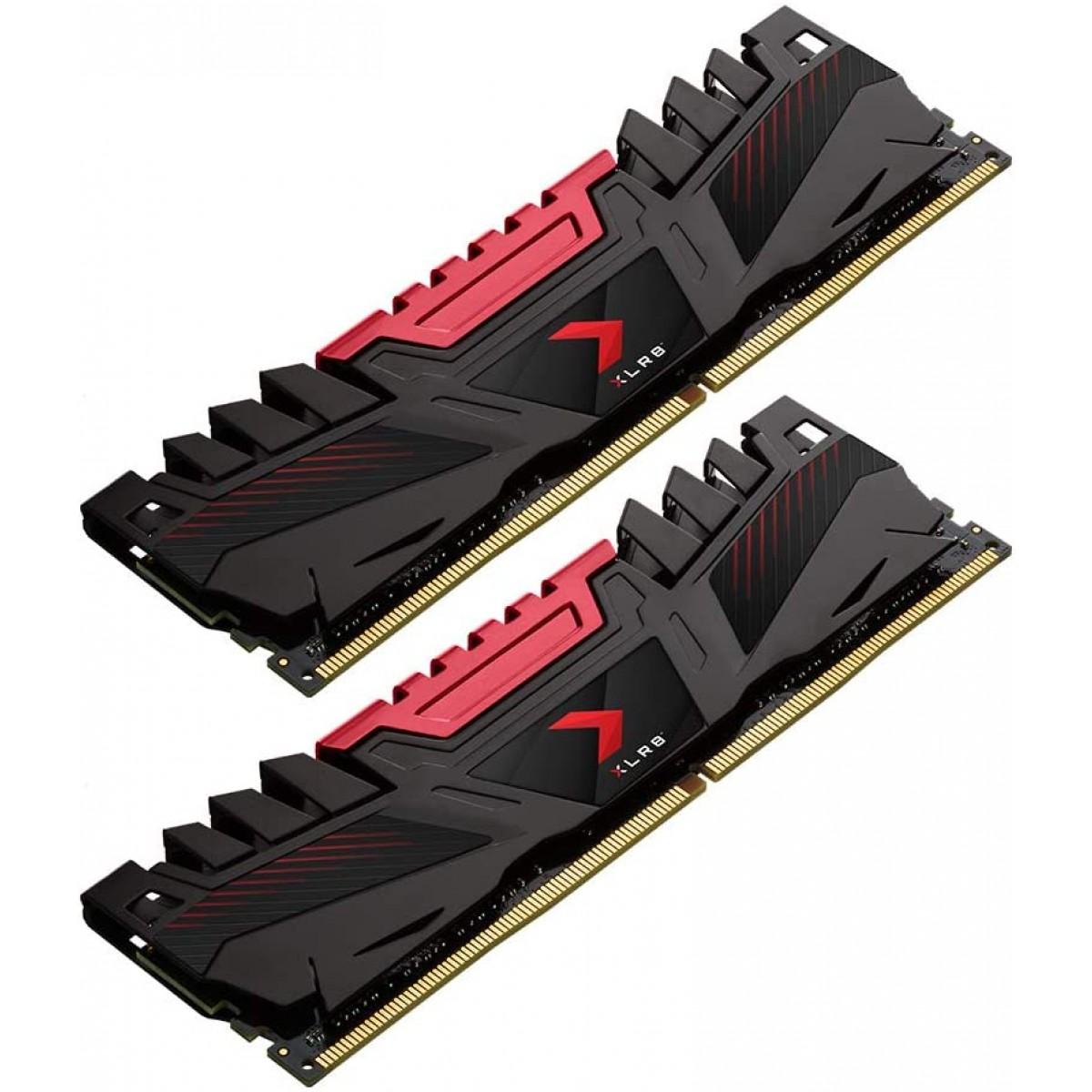Memória DDR4 PNY XLR8 Gaming, 32GB (2x16GB), 3200MHZ, MD32GK2D4320016XR