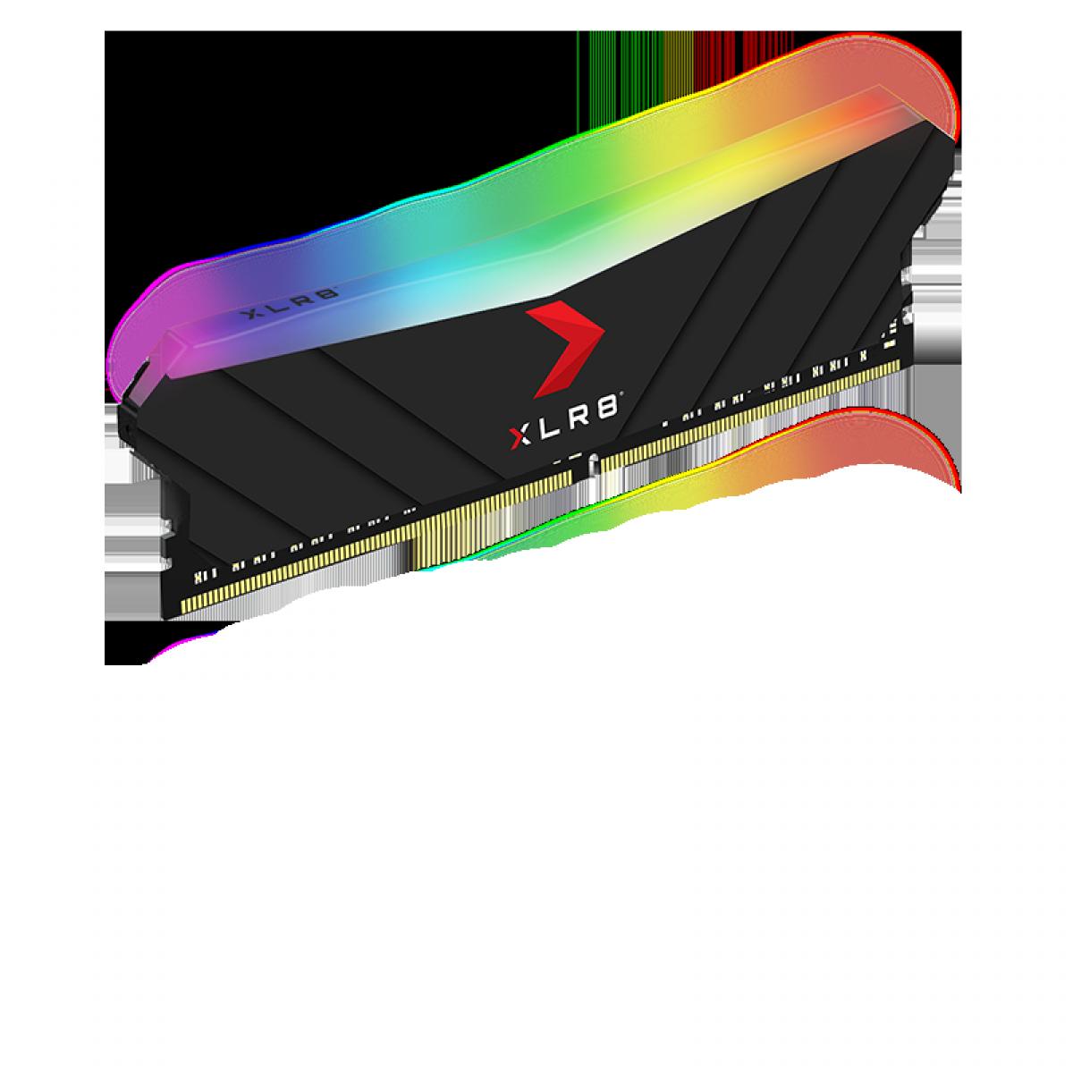 Memória DDR4 PNY XLR8 RGB Gaming, 16GB, 3200MHZ, MD16GD4320016XRGB