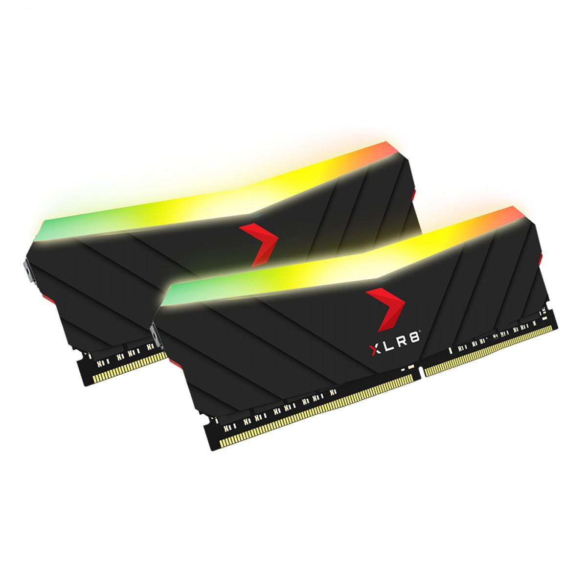 Memória DDR4 PNY XLR8 RGB Gaming, 32GB (2x16GB), 3200MHZ, MD32GK2D4320016XRGB
