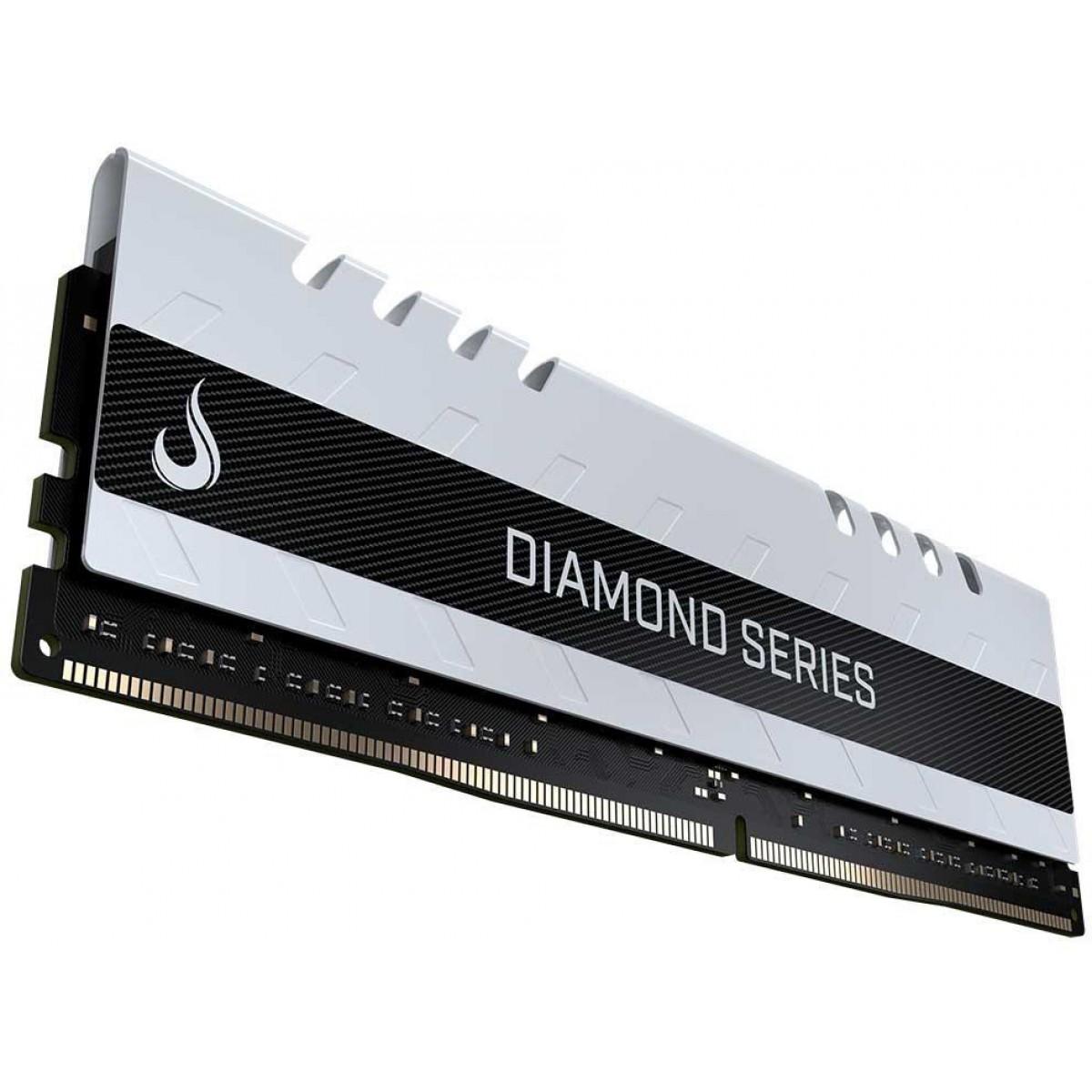 Memória DDR4 Rise Mode Diamond Series, 4GB, 3000MHz, White, RM-D4-4GB-3000DW
