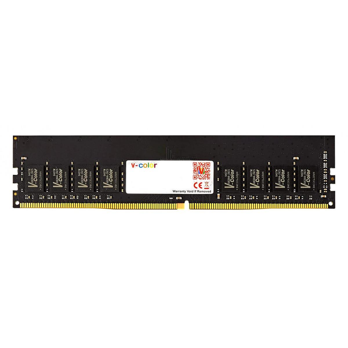 Memória DDR4 V-Color, 4GB, 2666Mhz, Black, TD44G26S819