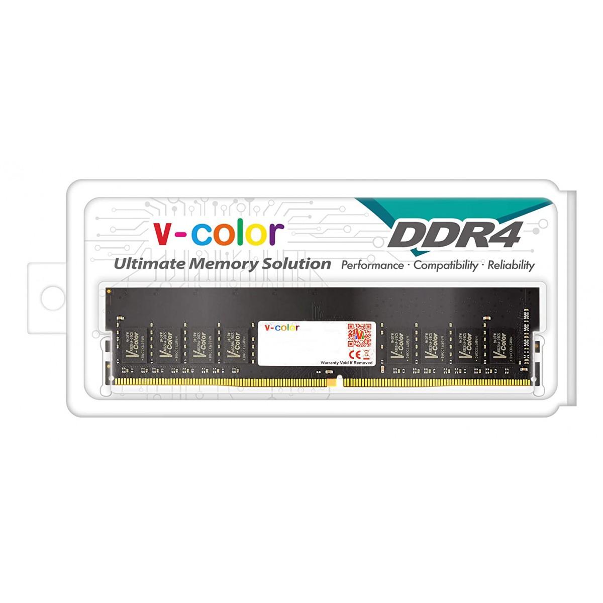 Memória DDR4 V-Color, 8GB, 3200Mhz, Black, TD48G32S822