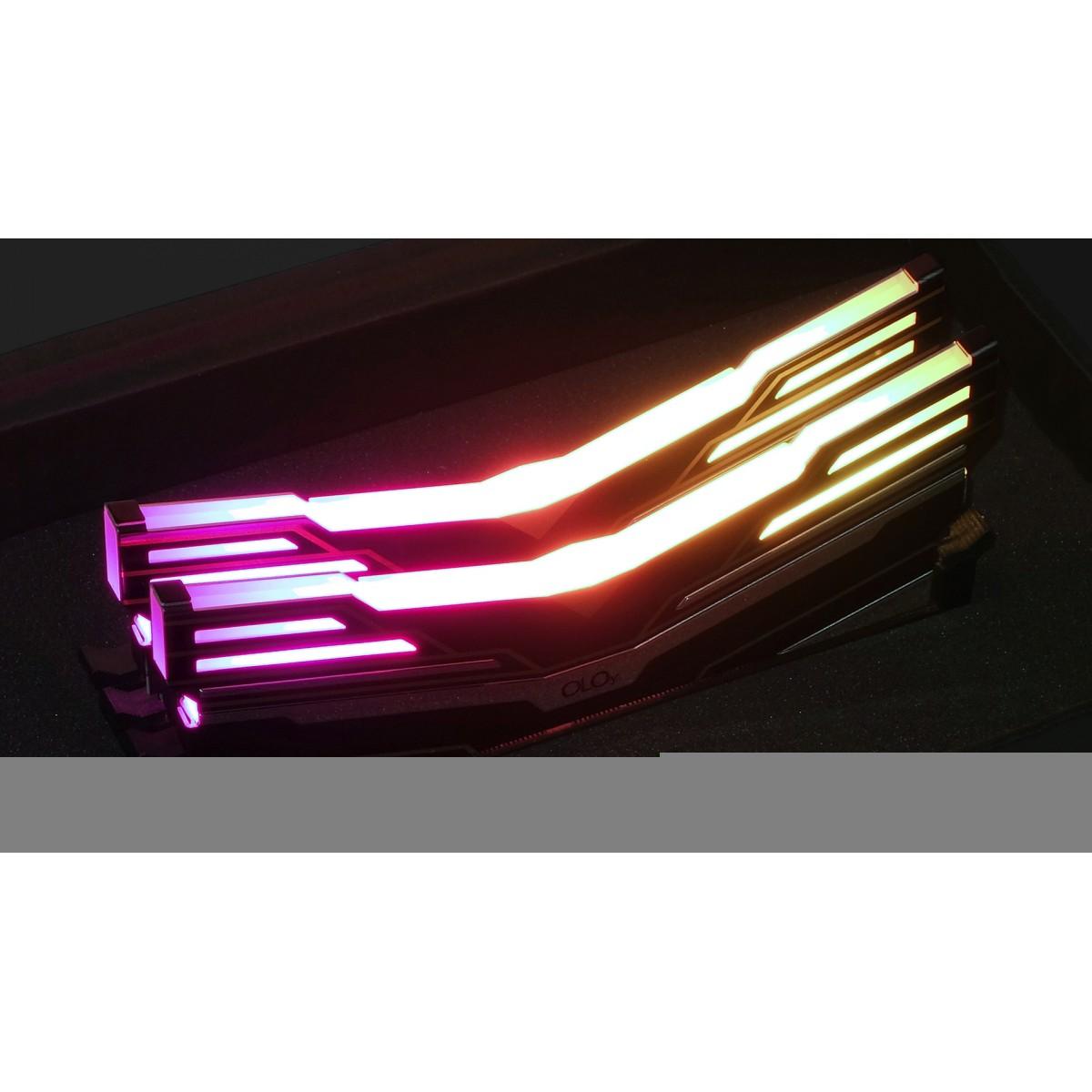 Memória DDR4 OLOy WarHawk Black, 16GB, 3200MHZ, RGB, ND4U1632161DE0SA