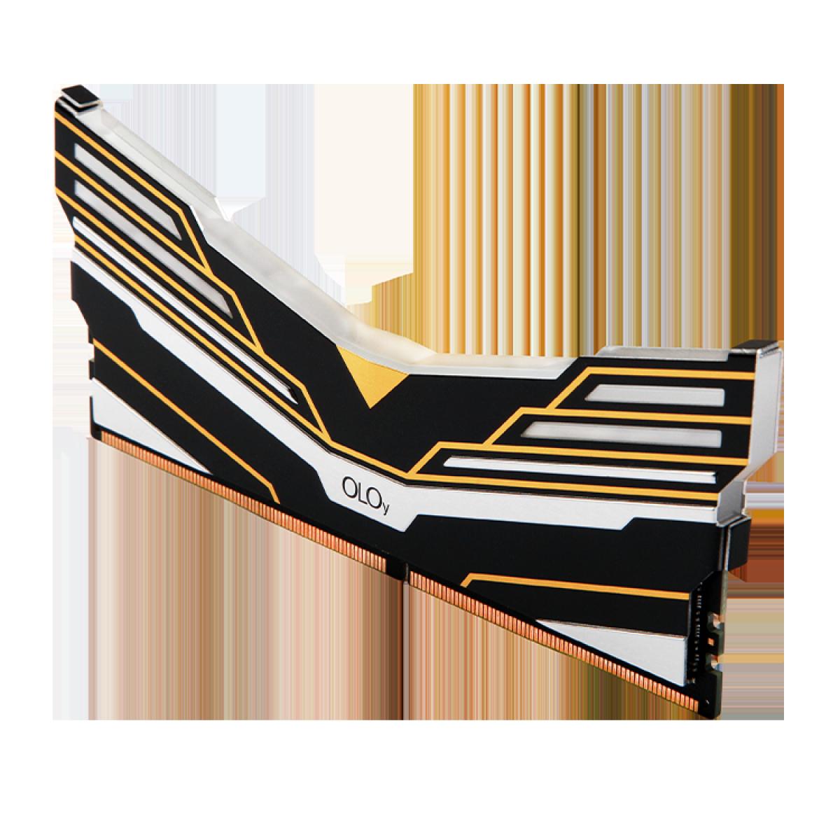 Memória DDR4 OLOy WarHawk Black, 8GB, 3600MHZ, RGB, MD4U083618BESA