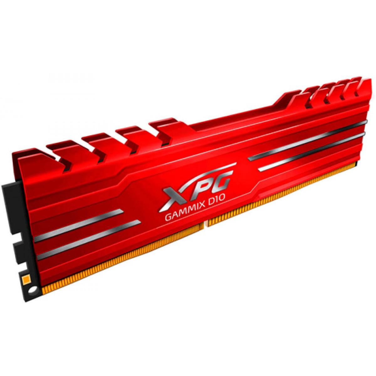 Memória DDR4 XPG Gammix D10, 16GB, 2666Mhz, CL16, Red, AX4U2666716G16-SR10