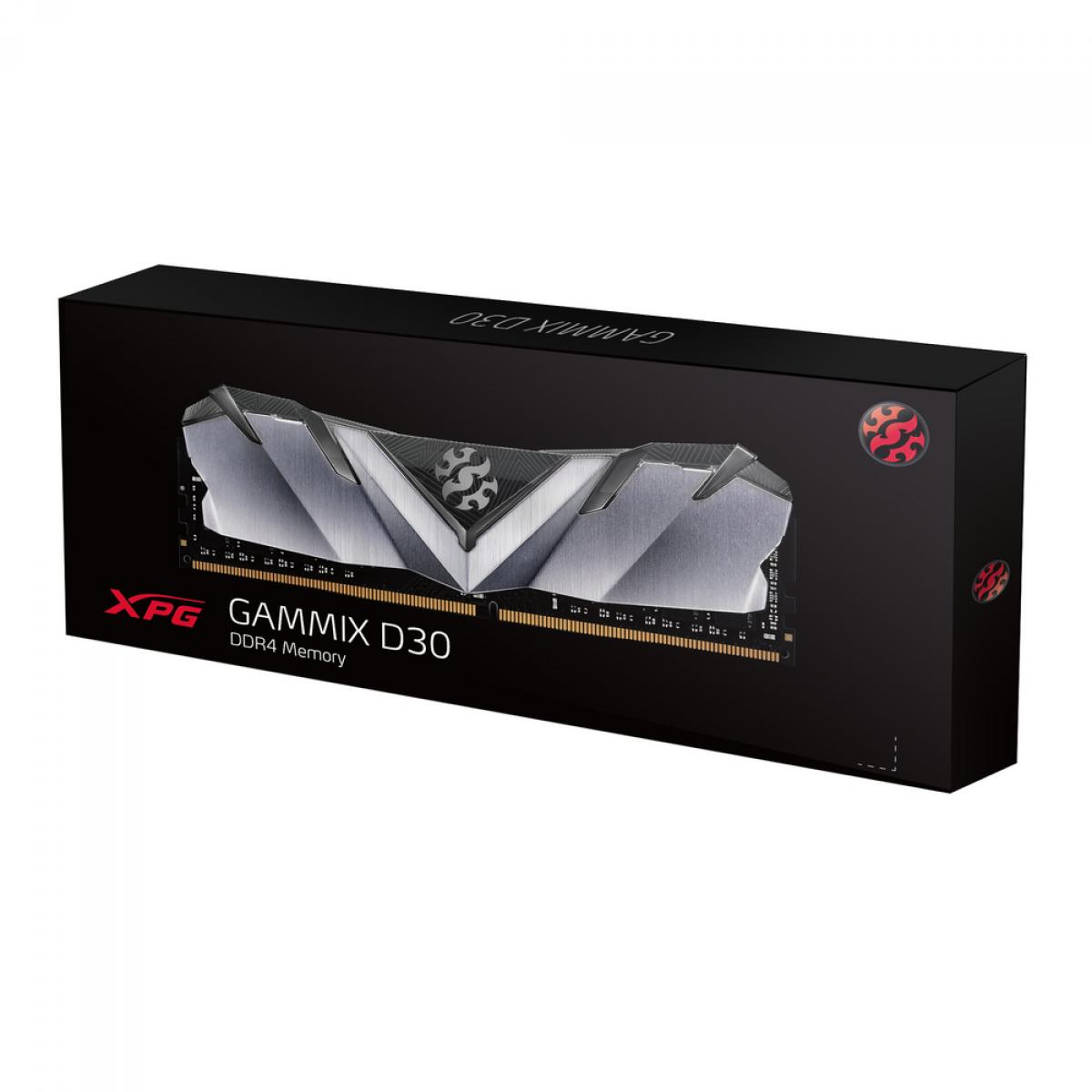 Memória DDR4 XPG Gammix D30, 8GB, 2666Mhz, CL16, Black, AX4U266638G16-SB30
