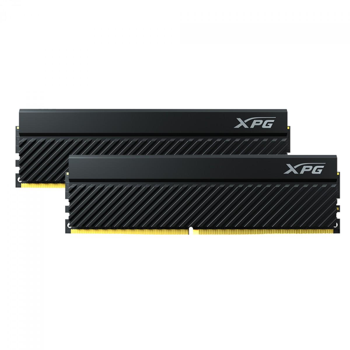 Memória DDR4 XPG Gammix D45, 32GB (2x16GB), 3200MHz, Black, AX4U320016G16A-DCBKD45