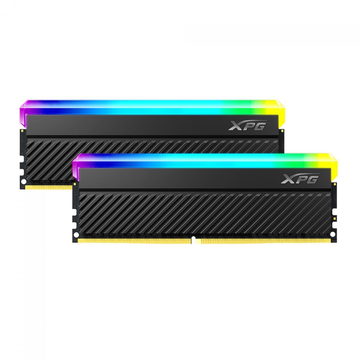 Memória DDR4 XPG Spectrix Gammix D45, RGB, 32GB (2X16GB), 3600MHz, Black, AX4U360016G18I-DCBKD45G