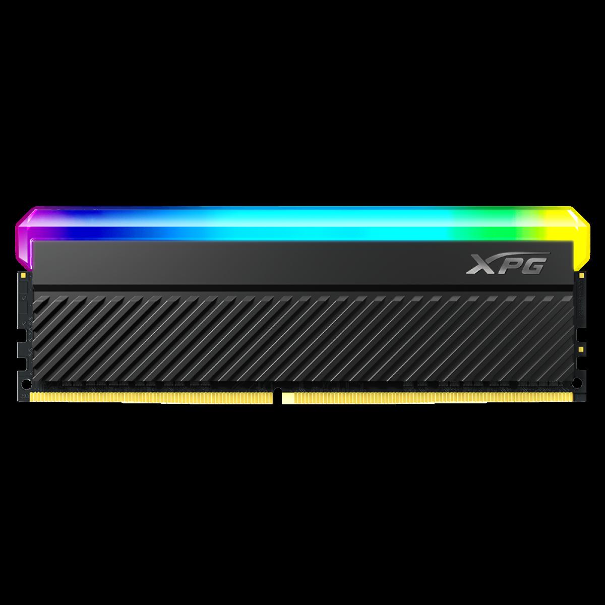 Memória DDR4 XPG Spectrix Gammix D45, RGB, 8GB, 3600MHz, Black, AX4U36008G18I-CBKD45G