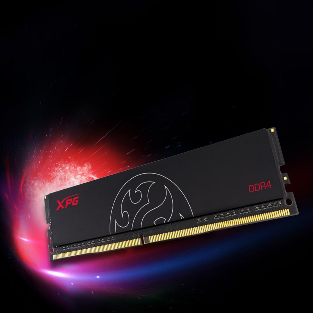 Memória DDR4 XPG Hunter, 16GB, 2666MHz, Black, AX4U2666716G16-SBHT