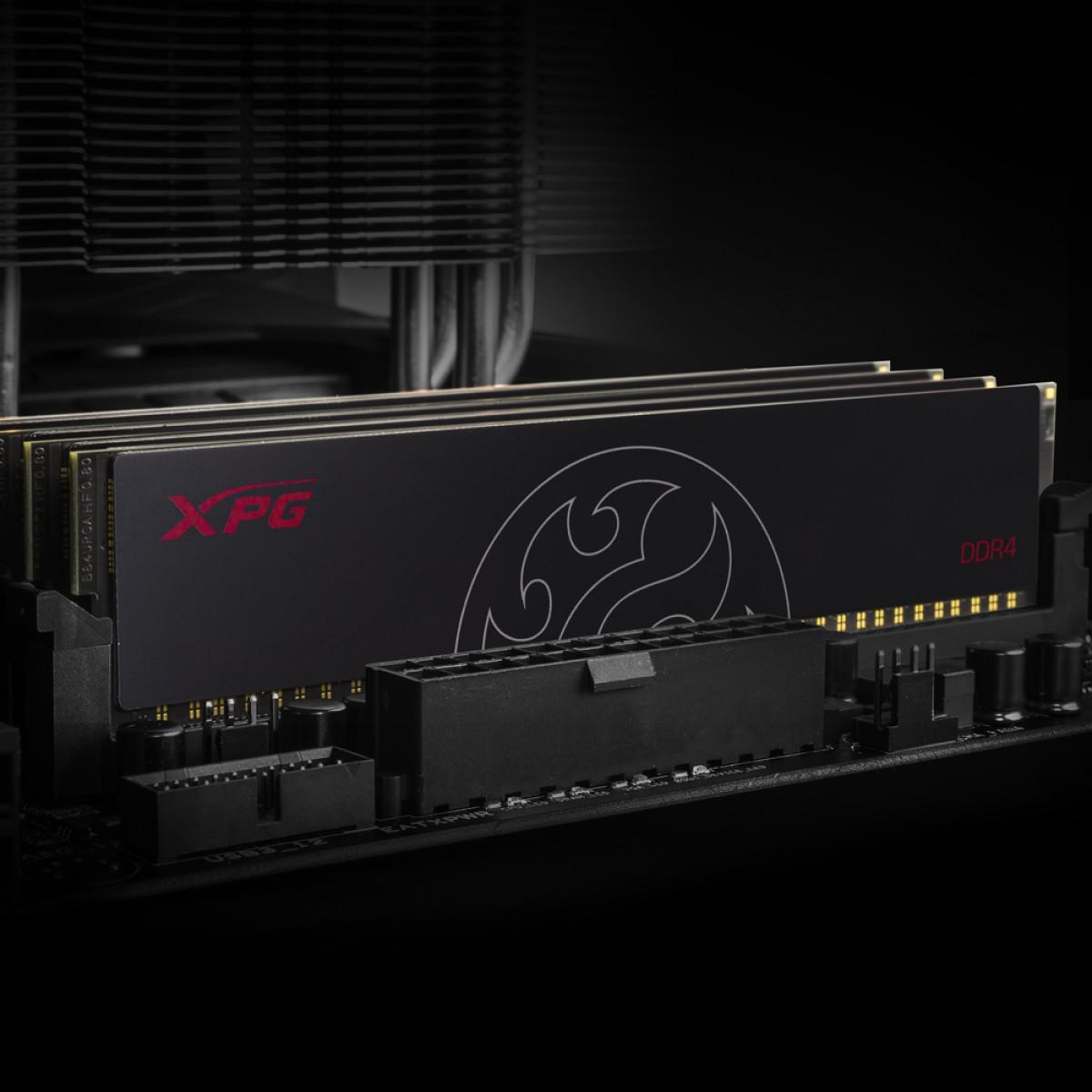 Memória DDR4 XPG Hunter, 8GB, 3200MHz, Black, AX4U32008G16A-SBHT