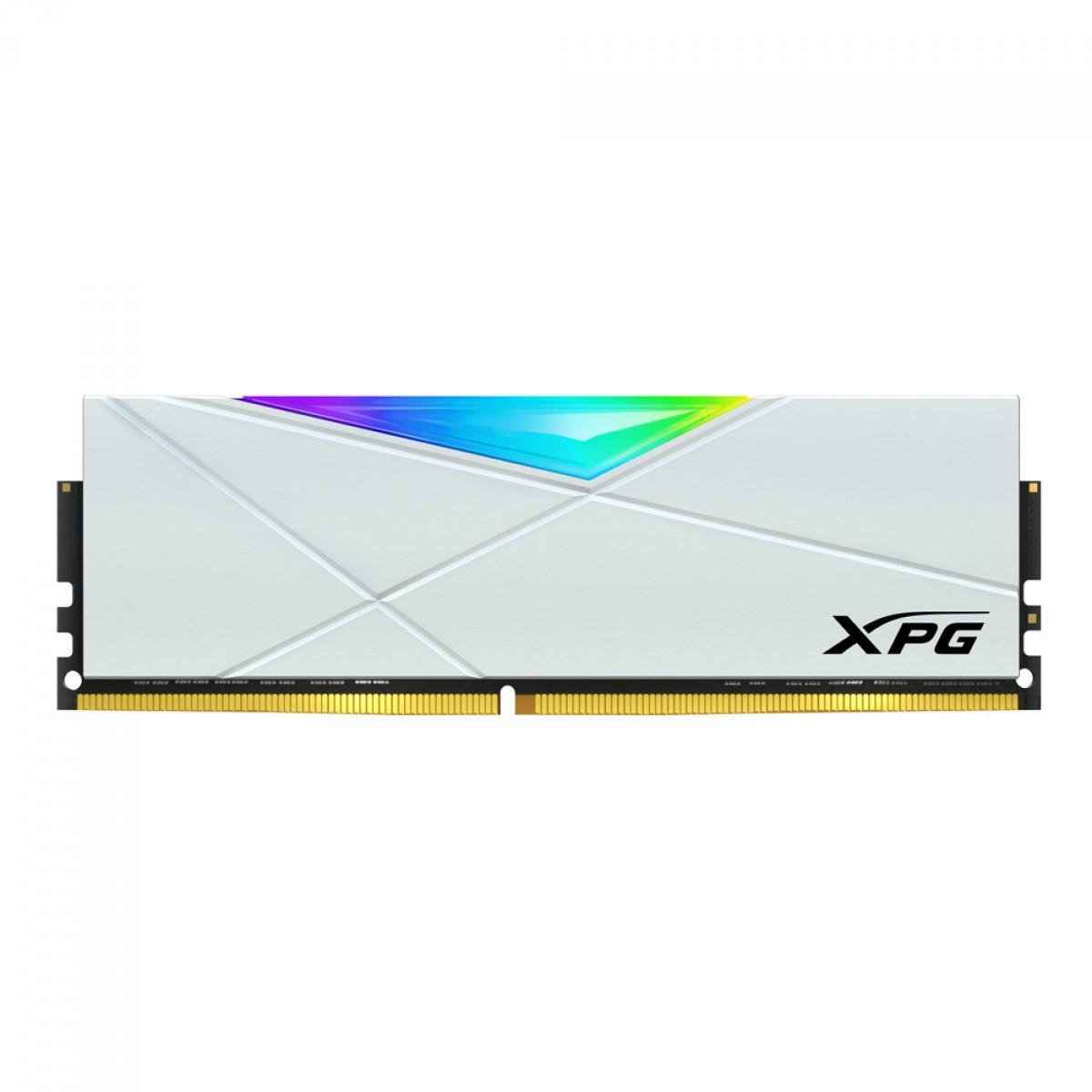 Memória DDR4 XPG Spectrix D50, 8GB (1x8GB), 3200Mhz, RGB, White, AX4U32008G16A-SW50