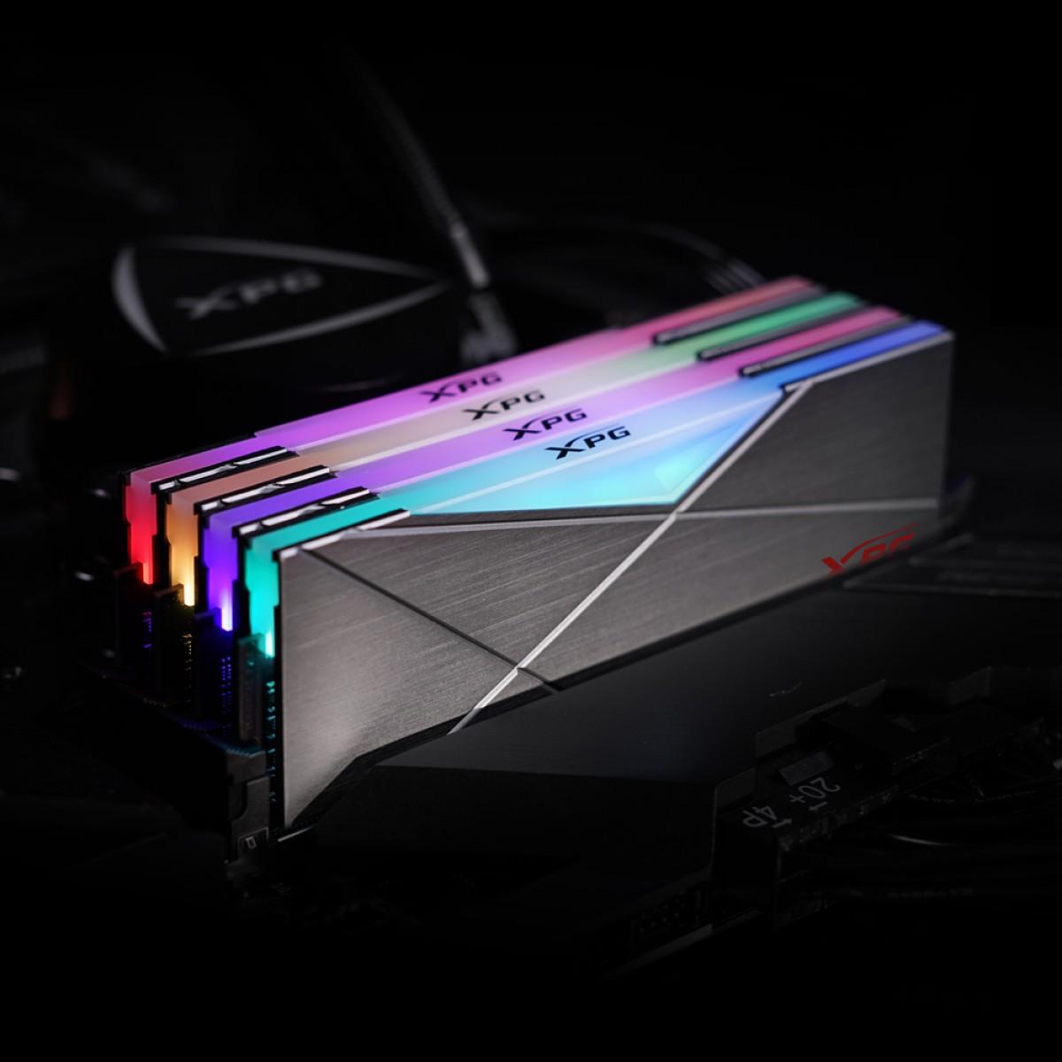 Memória DDR4 XPG Spectrix D50, 16GB (2x8GB), 3200Mhz, CL16, RGB, Gray, AX4U32008G16A-DT50