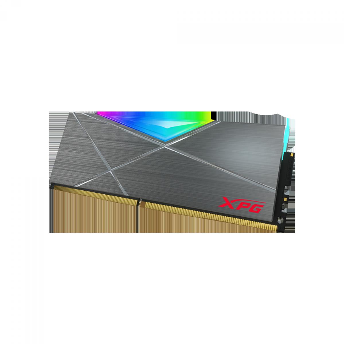 Memória DDR4 XPG Spectrix D50, 8GB, 3600Mhz, CL18, RGB, Gray, AX4U360038G18A-ST50