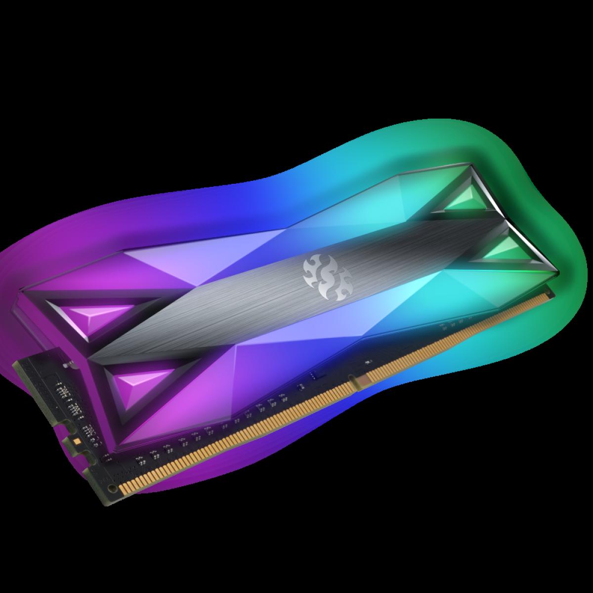 Memória DDR4 XPG Spectrix D60G, 16GB, 3000Mhz, CL16, RGB, Gray, AX4U3000316G16A-ST60