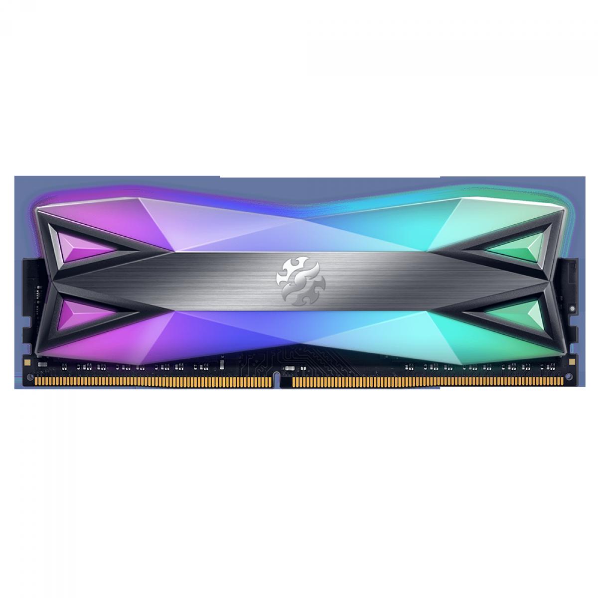 Memória DDR4 XPG Spectrix D60G, 16GB, 3000Mhz, CL16, RGB, Gray, AX4U3000716G16A-ST60