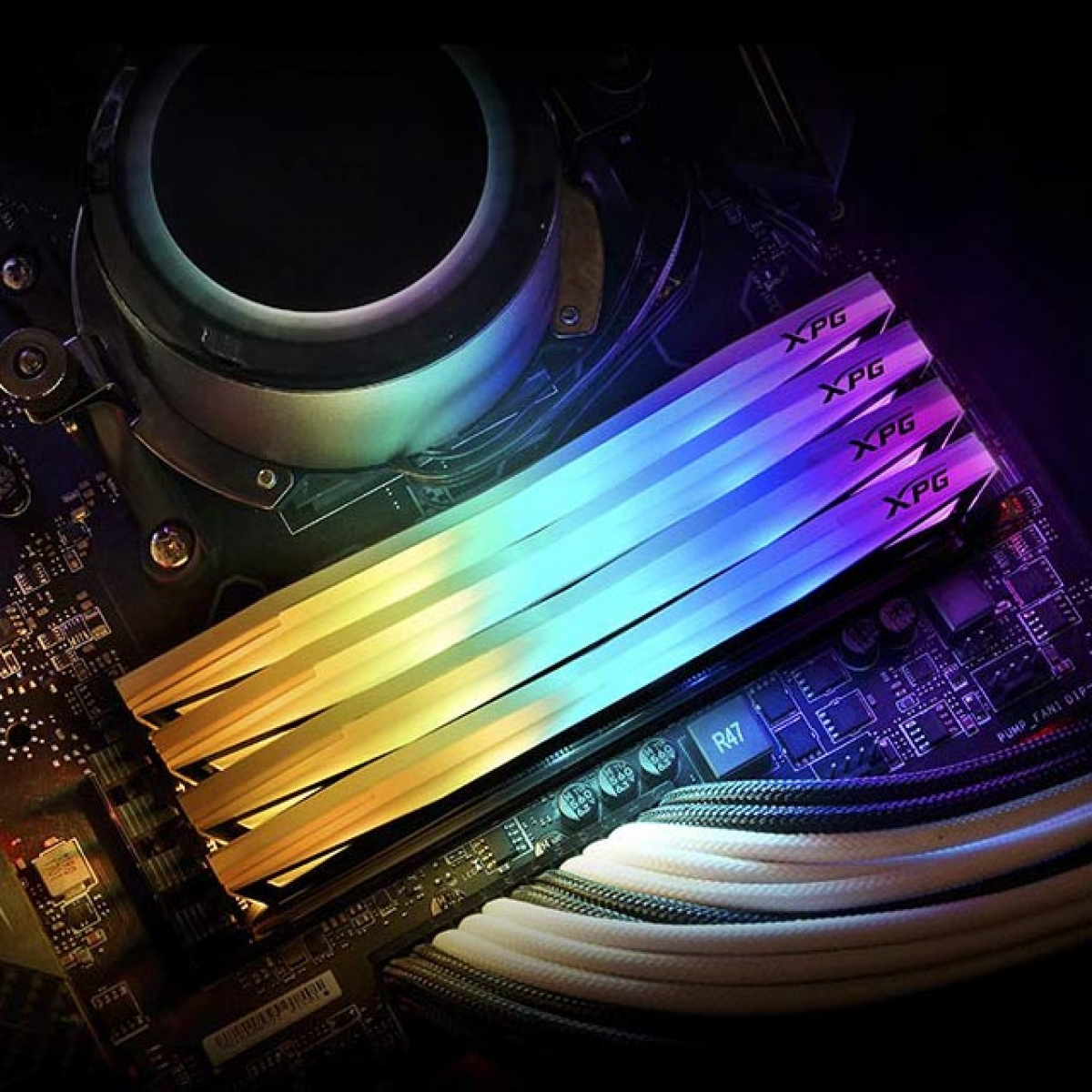 Memória DDR4 XPG Spectrix D60G RGB, 16GB (2X8GB) 3200Mhz, AX4U320038G16-DT60