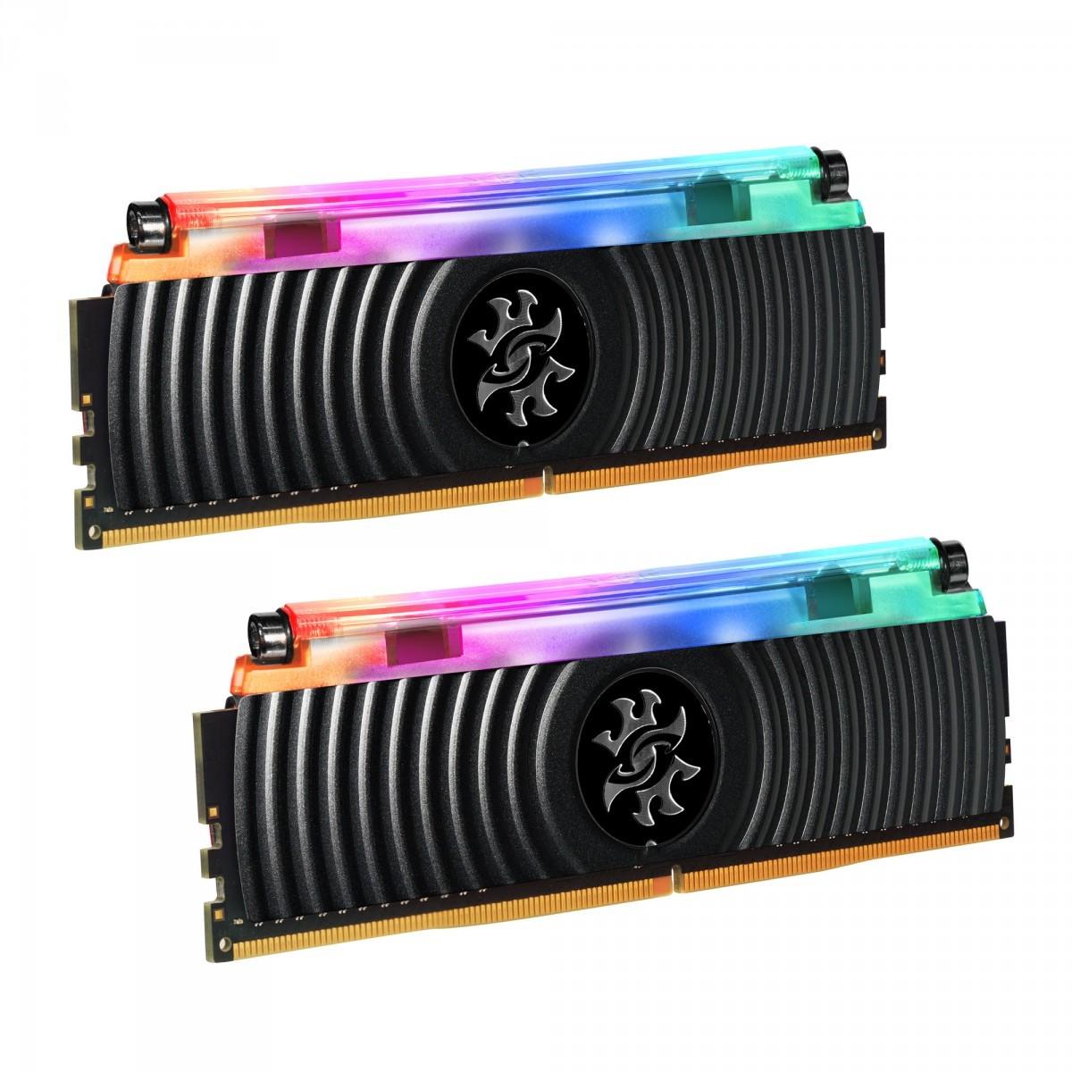 Memória DDR4 XPG Spectrix D80, 16GB (2x8GB), 3200Mhz, CL16, RGB, Black, AX4U320038G16A-DB80
