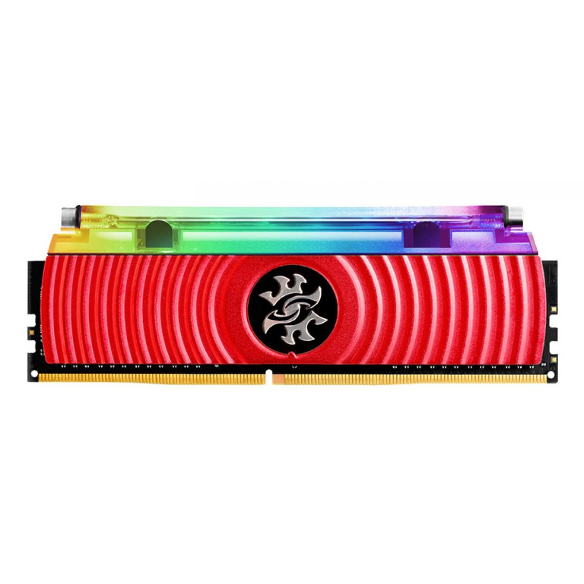 Memória DDR4 XPG Spectrix D80, 16GB, 3200Mhz, CL16, RGB, Red, AX4U3200316G16A-SR80